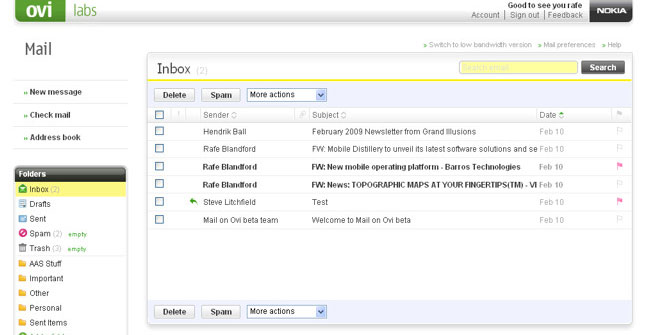 Situs Penyedia Layanan Membuat Email Ovi