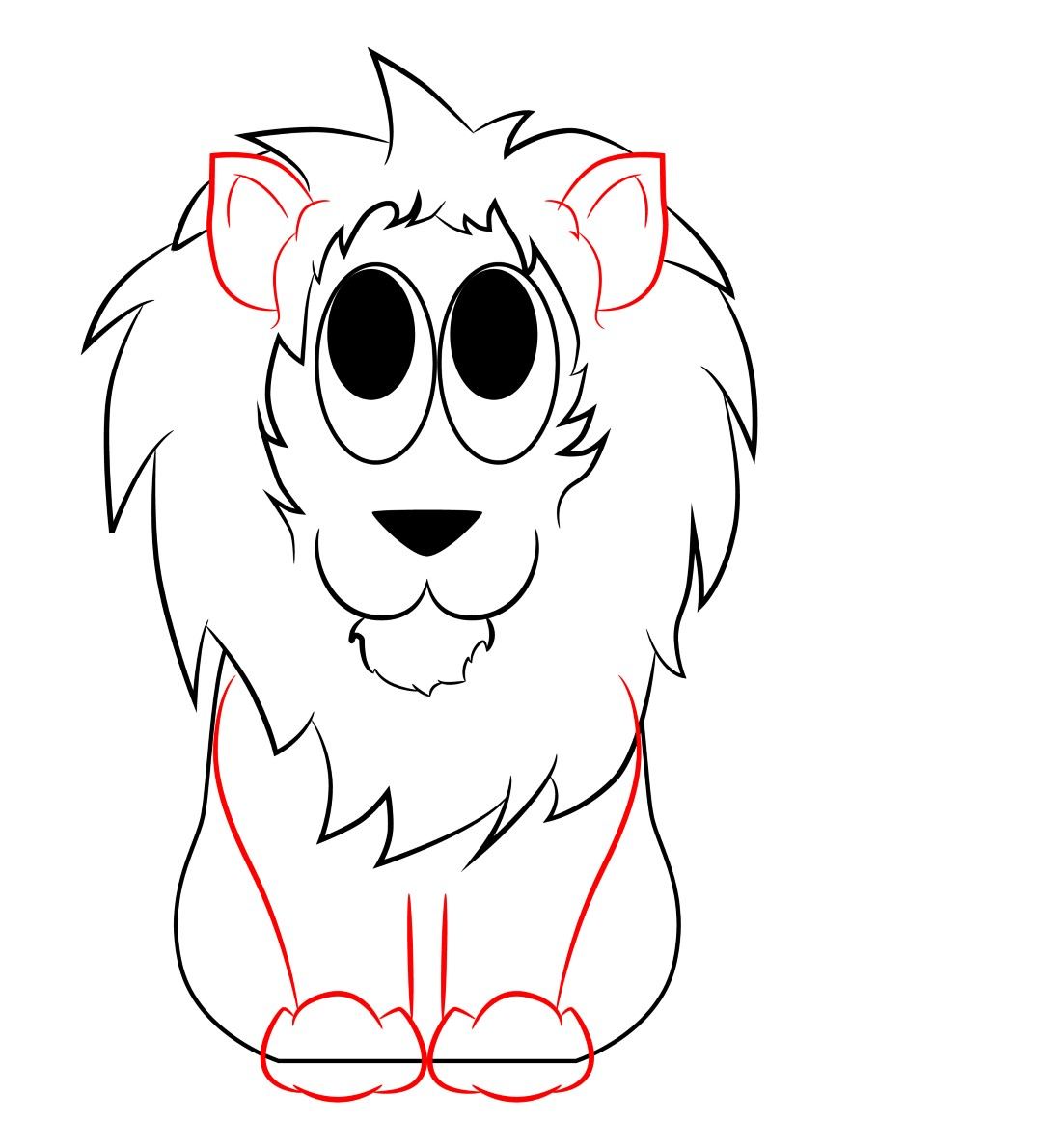 How To Draw A Cartoon Lion Draw Central