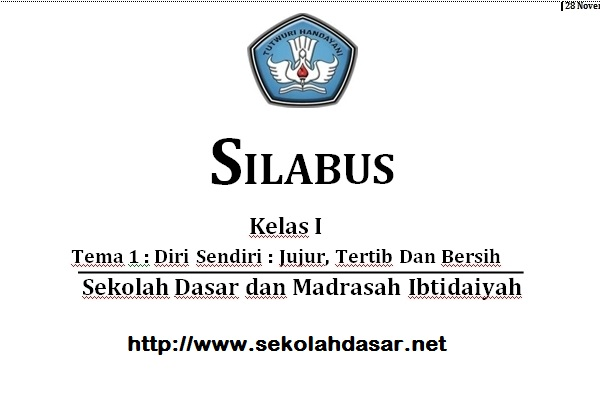 Download Silabus Tematik SD Kurikulum 2013