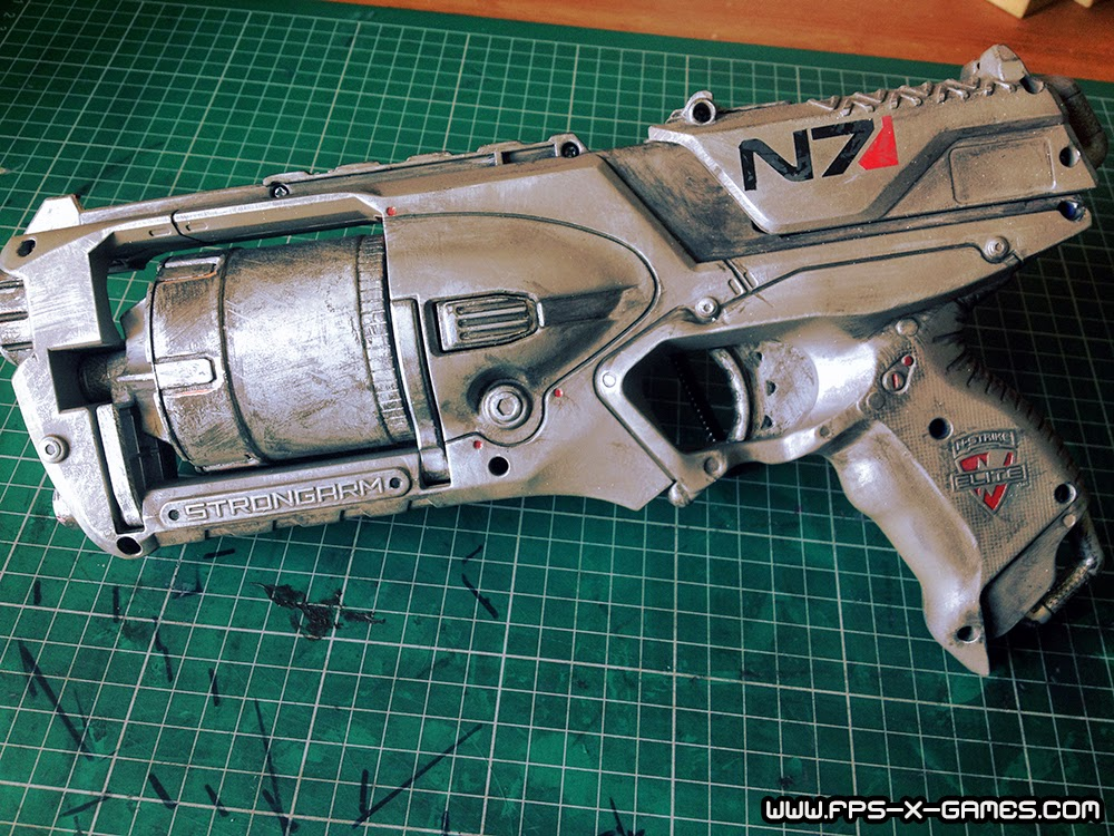 FPSXGames first custom paint job on a Strongarm NERF gun