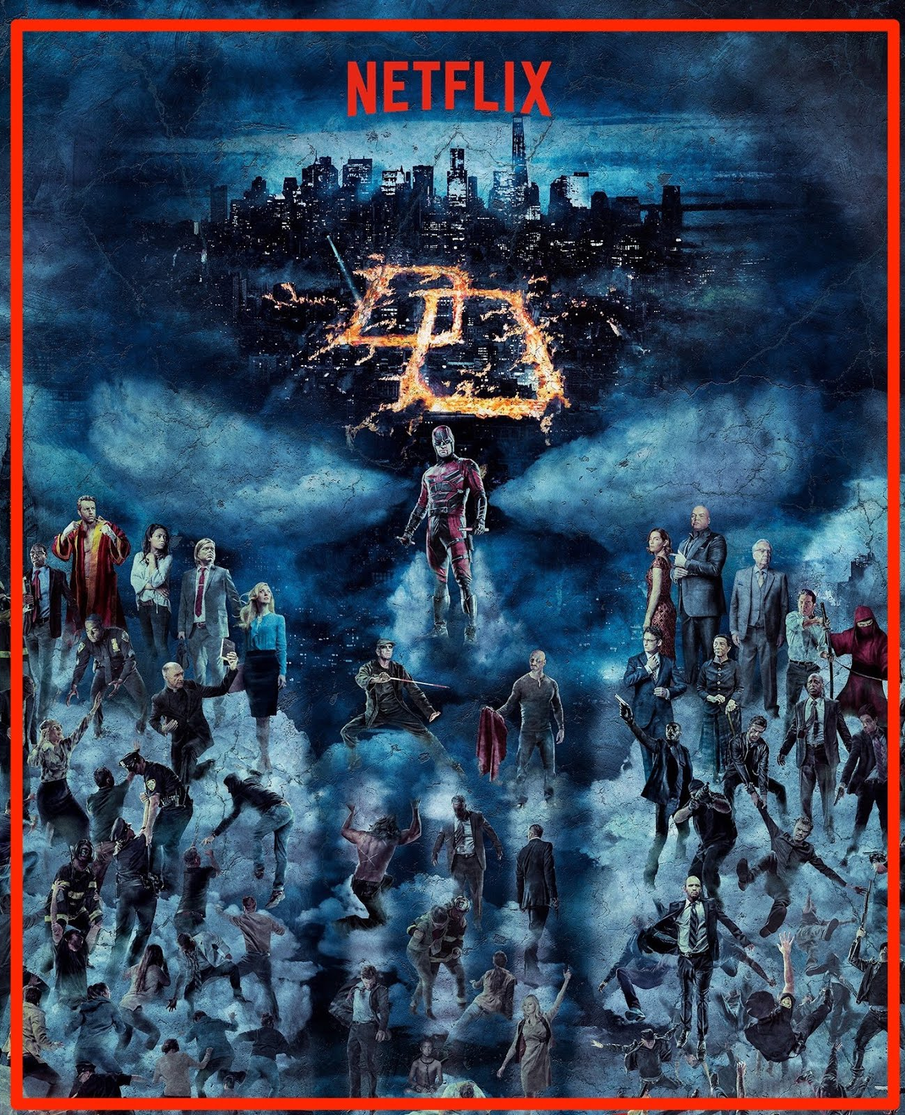 Above Picture Full Character Poster Of The Daredevil Universe C 2016 Netflix