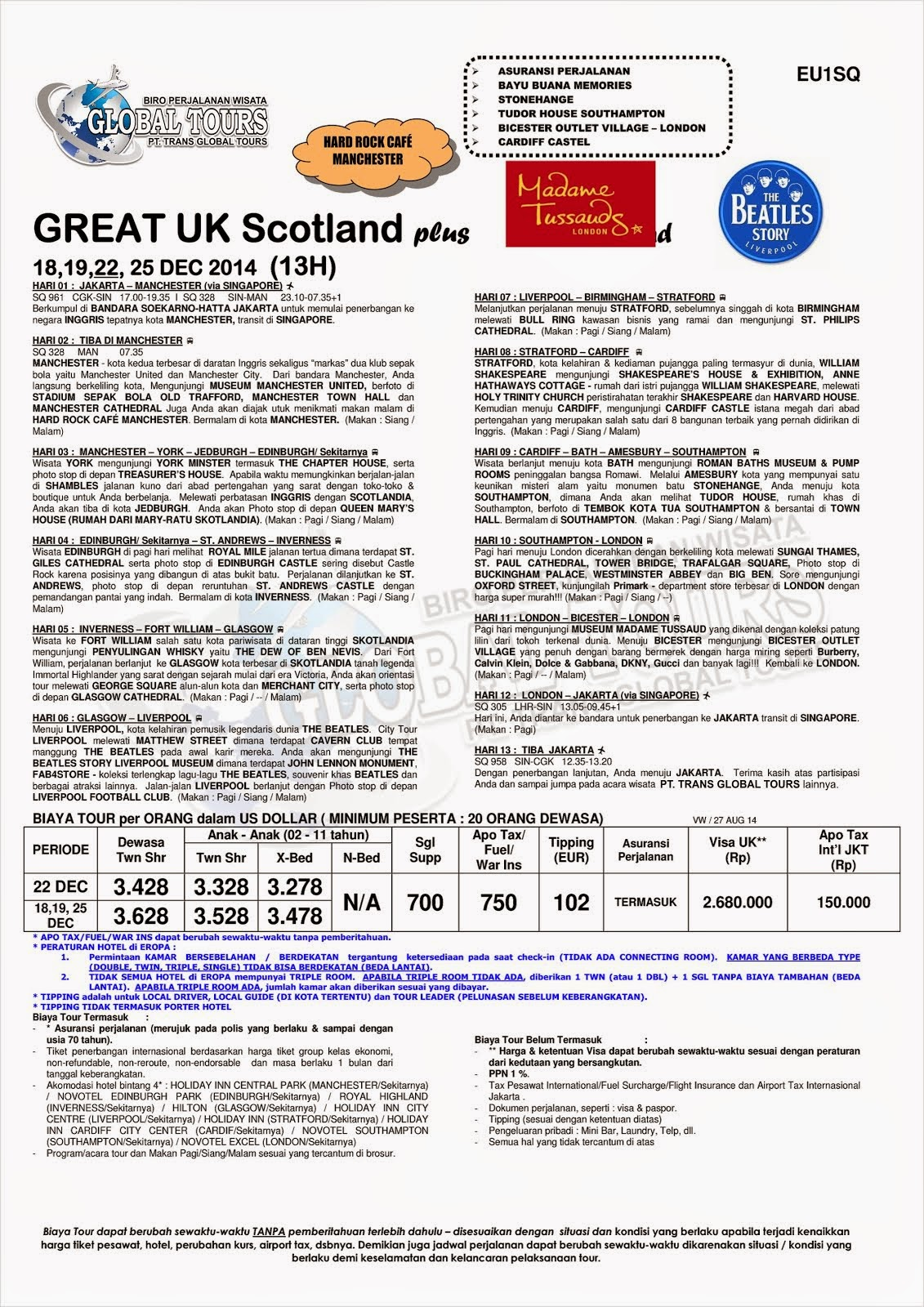 GREAT UK SCOTLAND PLUS