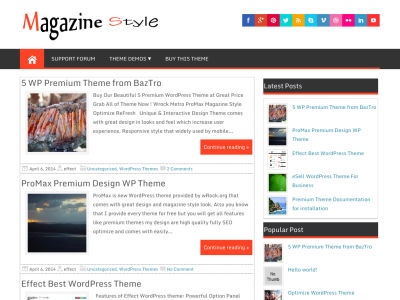 Magzine Style WP Theme