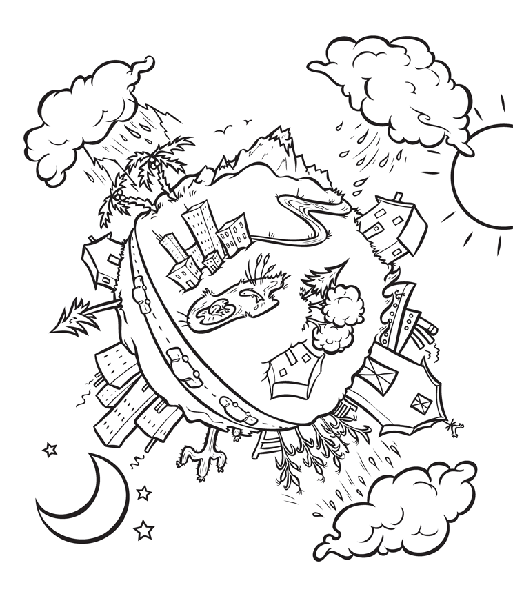 Pics for water conservation for kids coloring pages Coloring book with water