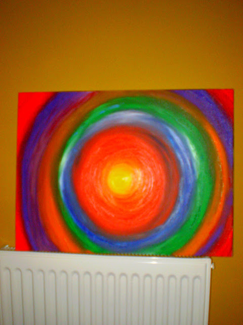 easy acrylic painting colours circles
