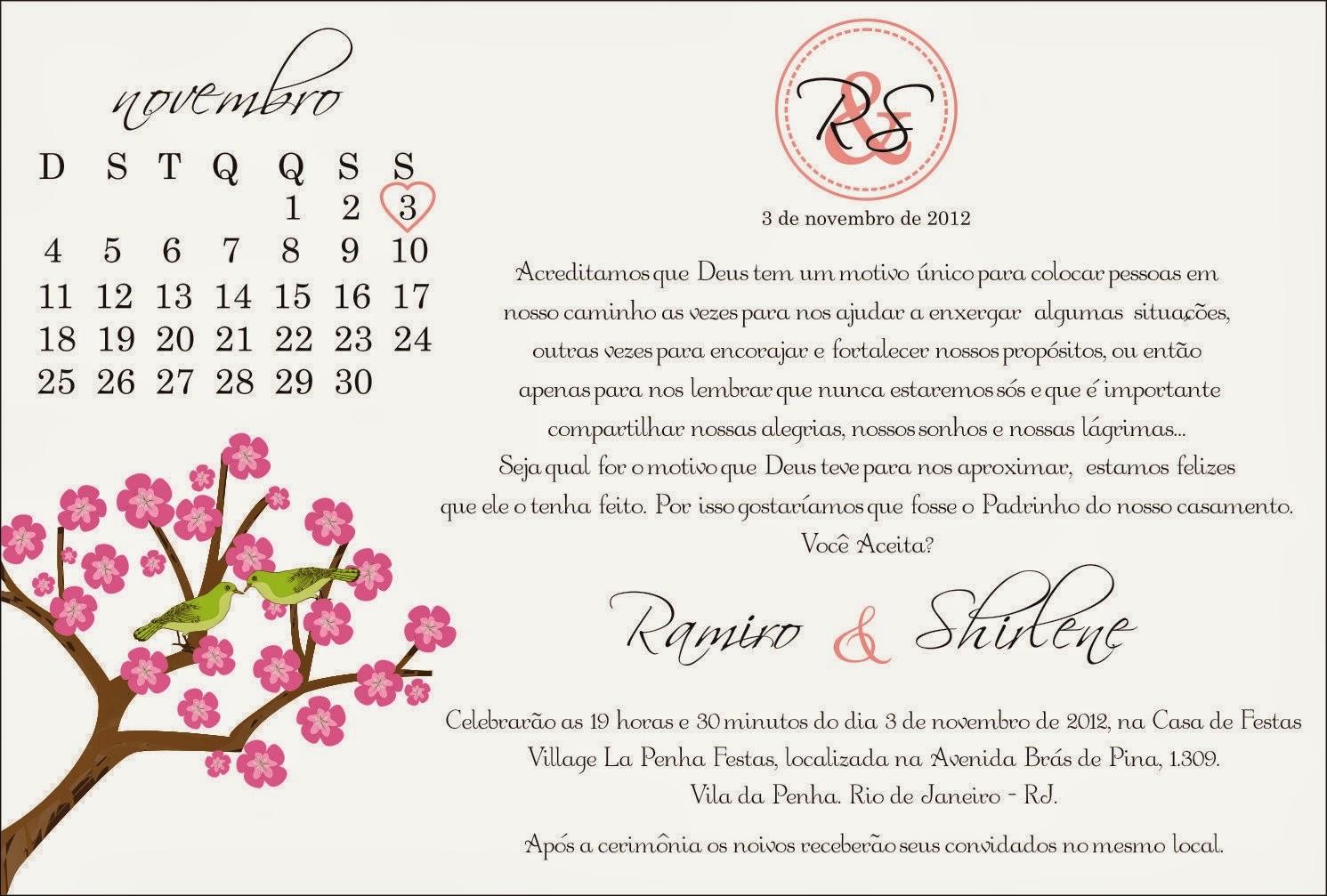 Excepcional O Buquê de Noiva: Convites de Casamento para Padrinhos ZE96