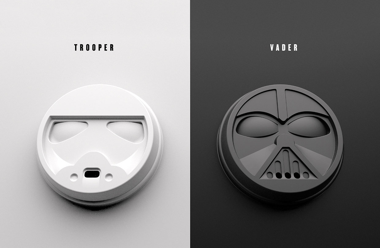 dark brew coffee house concept on packaging of the world