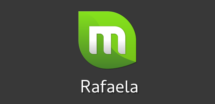 Logo do Linux Mint 17.2 ''Rafaela''.