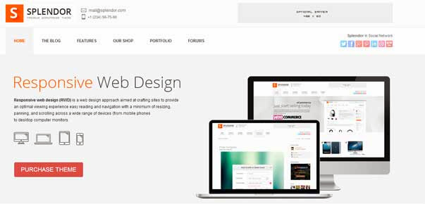 Splendor - Premium Corporate & eCommerce WP Theme