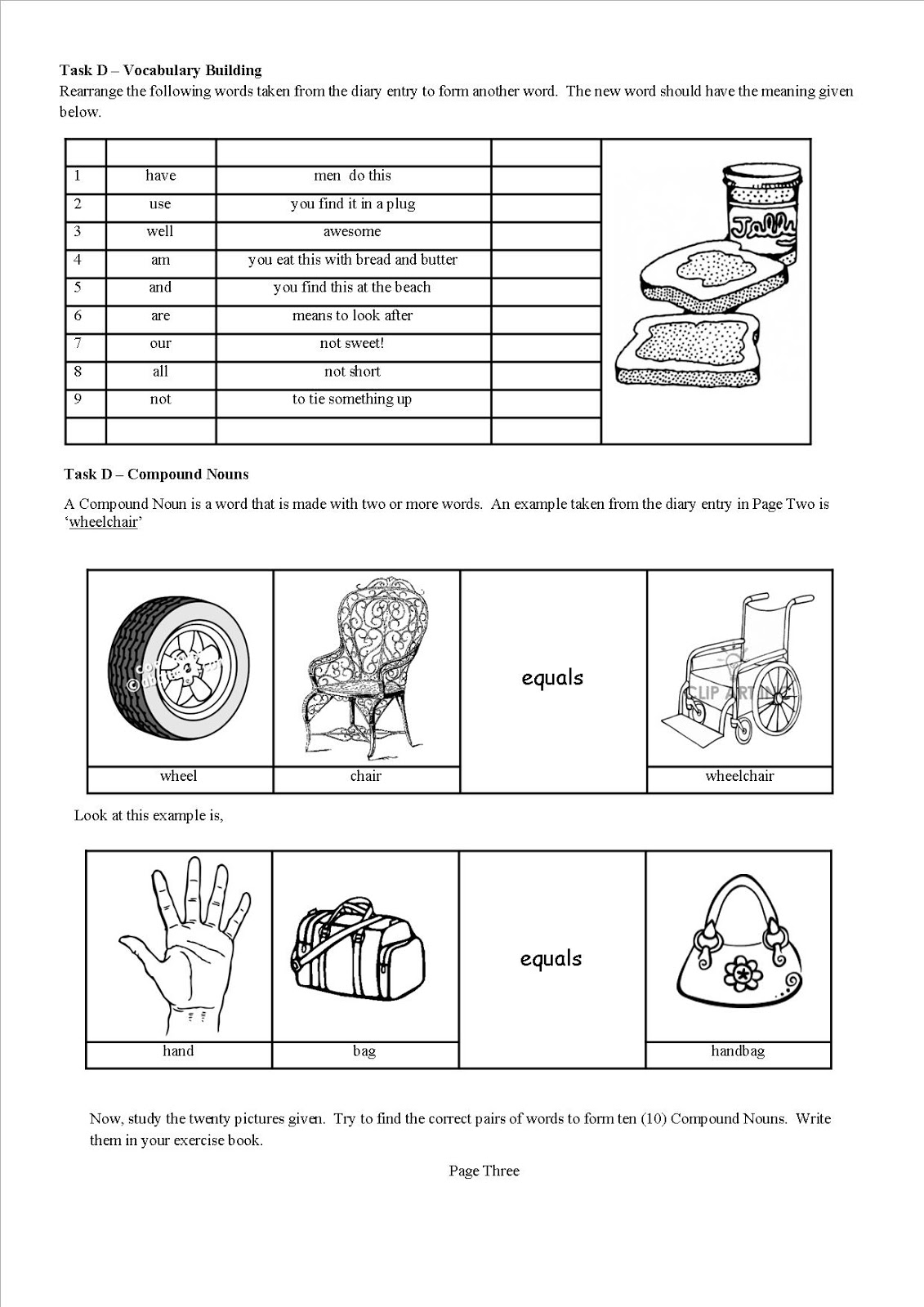 The Cooking Teacher Fun with Compound Nouns – Compound Nouns Worksheet