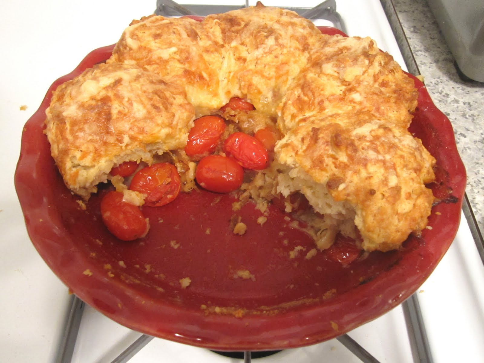 Just Bunch: Cherry TOMATO Cobbler! Who would have thought?!