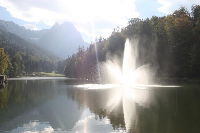 Herbst am Riessersee in Garmisch-Partenkirchen