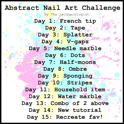 Playful Polishes June Nail Art Challenge Ocean Nails: Abstract Nail Art Challenge: Day 12cute Quotes Happiness