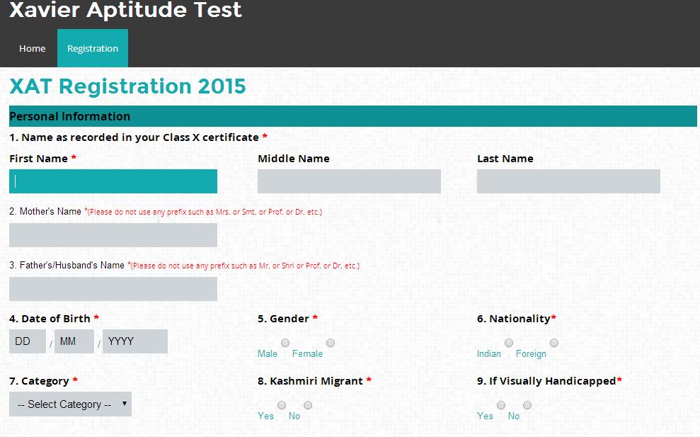 XAT 2015 Registration 02