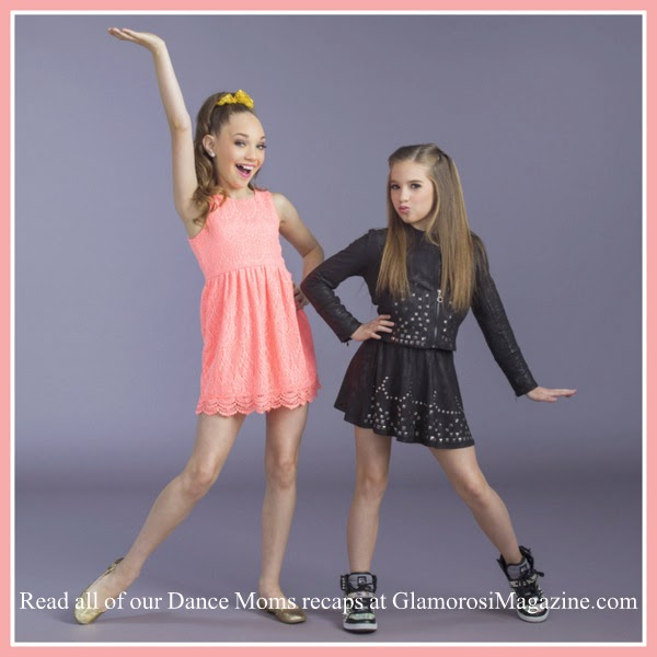 L to R: Dance Moms stars Maddie Ziegler and Mackenzie Ziegler