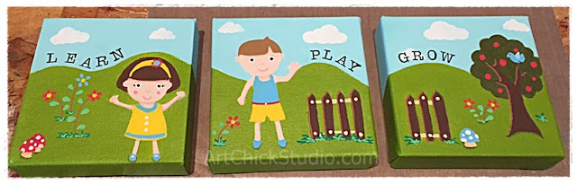 Learn Play Grow Acrylic Painting