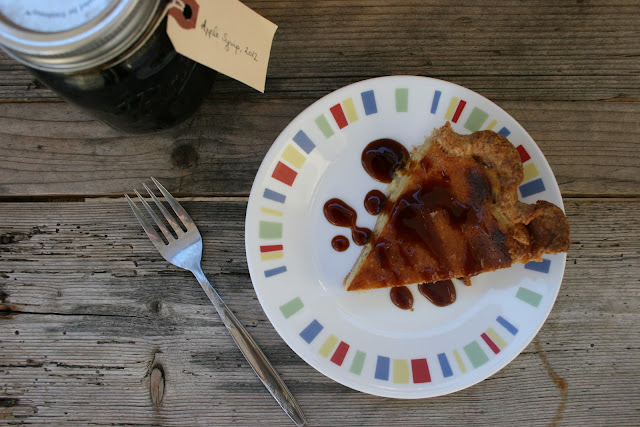 Maple Bourbon Buttermilk Pie with Apple Syrup | Nothing in the House