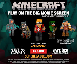 WIN 2 Tickets to Play Minecraft on the Big Screen in Movie Theatres And Discount Code For All