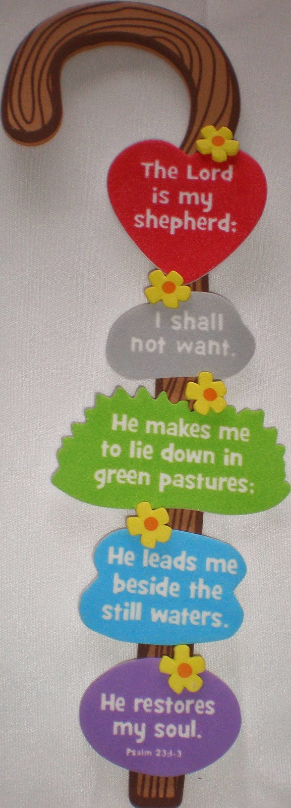 Petersham bible book tract depot shepherd 39 s staff craft kit for Bible story crafts for kids