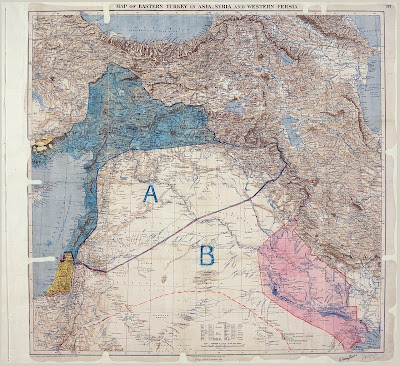 Map of the Sykes-Picot Agreement
