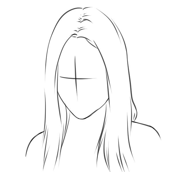 How to draw real hair step 2