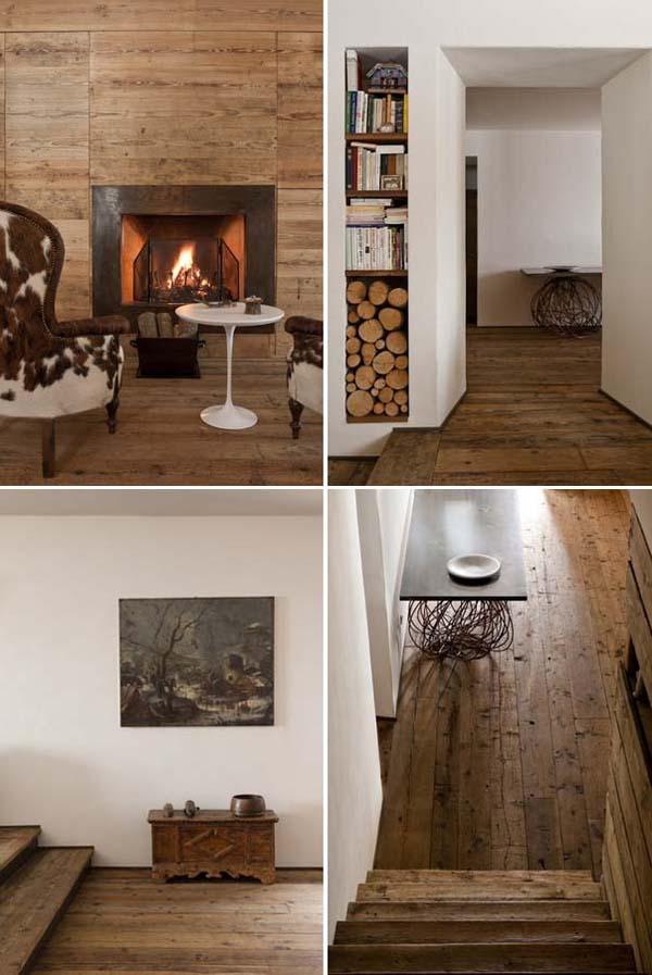 baul antiguo de madera y pavimento de madera rustica
