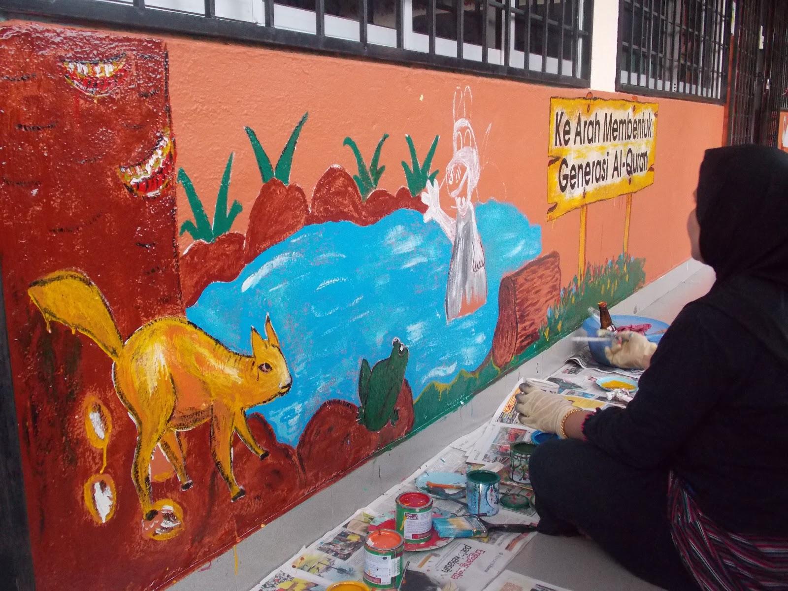 Tadika islam sungai penchala menceriakan tadika for Mural tadika