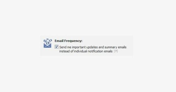 Facebook estrena un sistema que reduce la cantidad de emails de notificaciones.