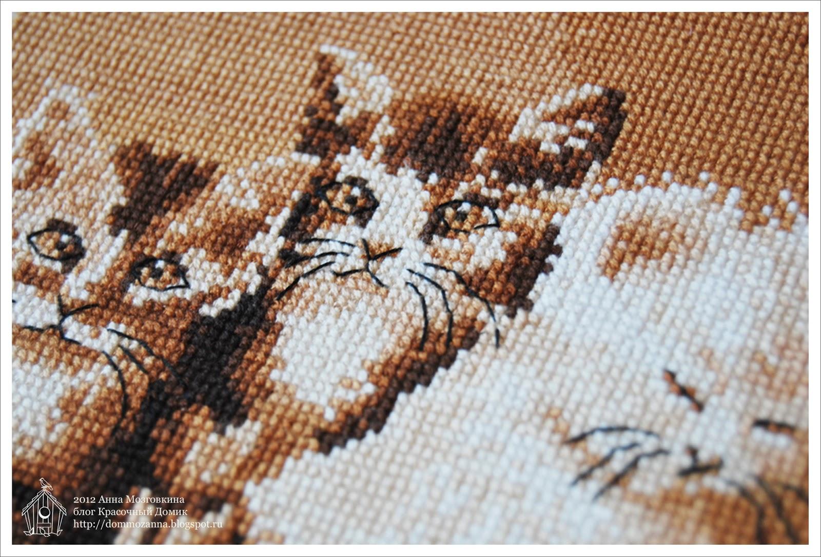 котята вышивка крестом