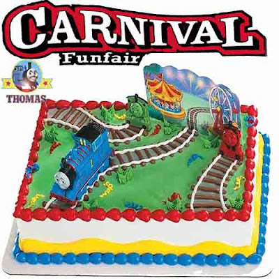 Kids cake cartoon characters Thomas and friends cake decorations topper set Island of Sodor carnival fair