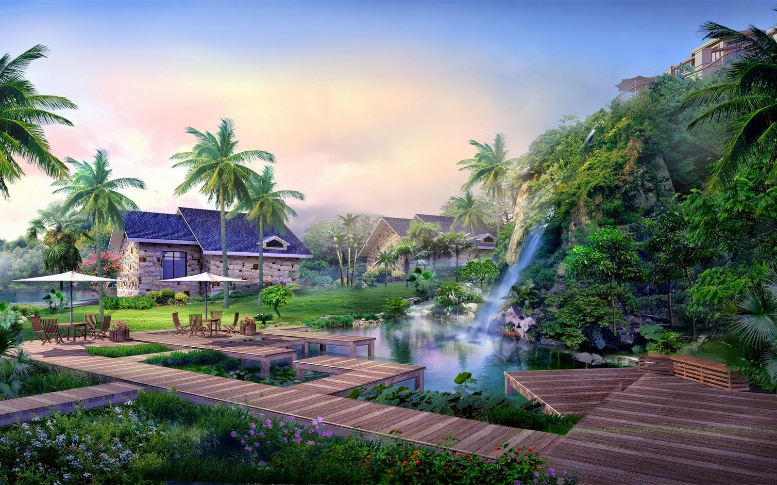 Widescreen High Resolution Digital Landscaping Pictures