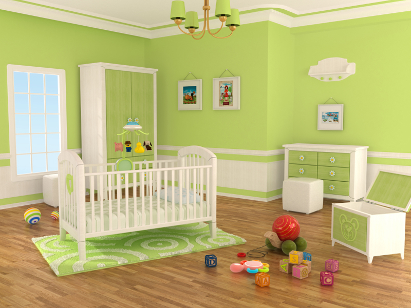 Photo chambre bébé vert pistache - Bébé et décoration - Chambre bébé ...
