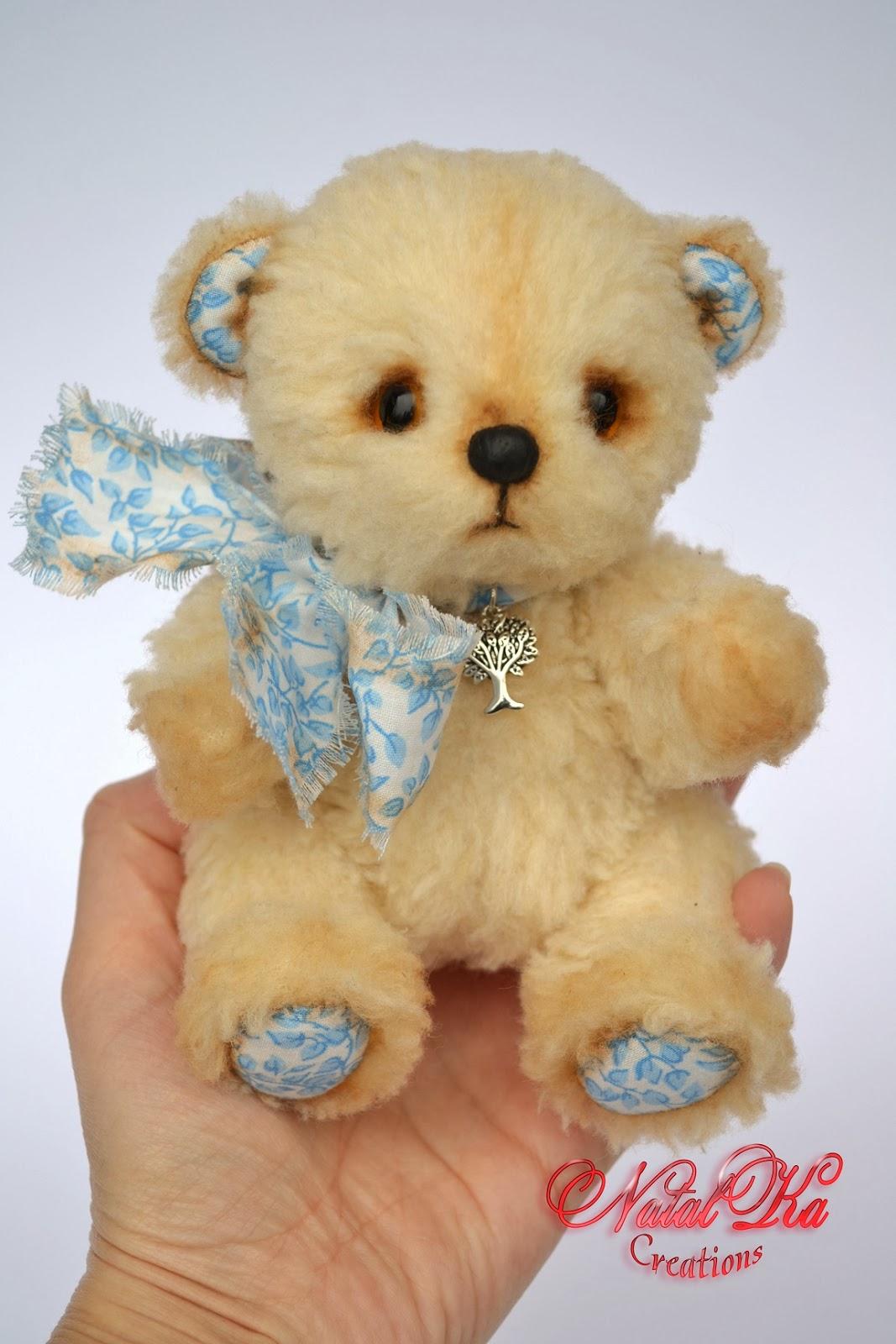Artist teddy bear handmade by NatalKa Creations. Автрский мишка тедди ручной работы от NatalKa Creations.