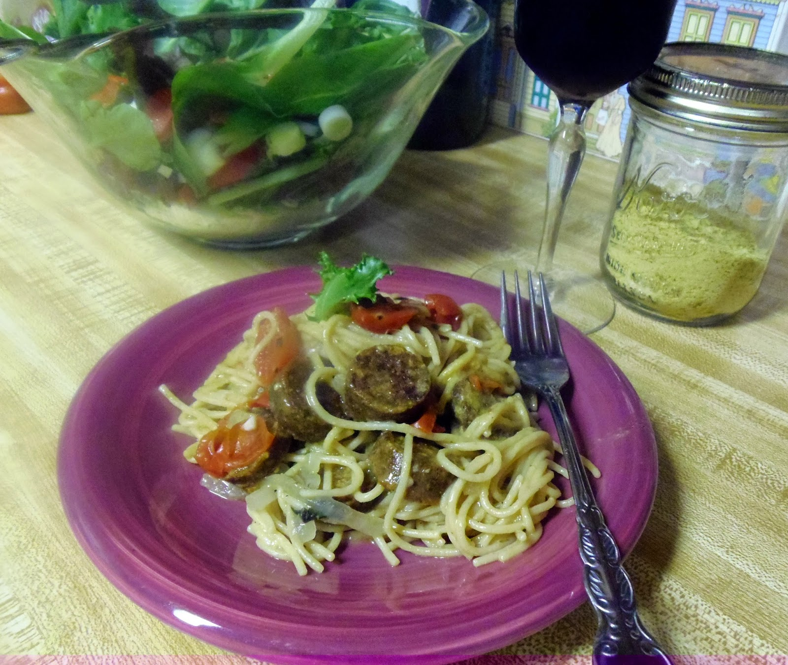 andouille sausage and tomato pasta