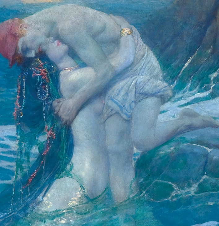 Howard Pyle 1853-1911 | American Golden Age Illustrator | The mermaid, 1910