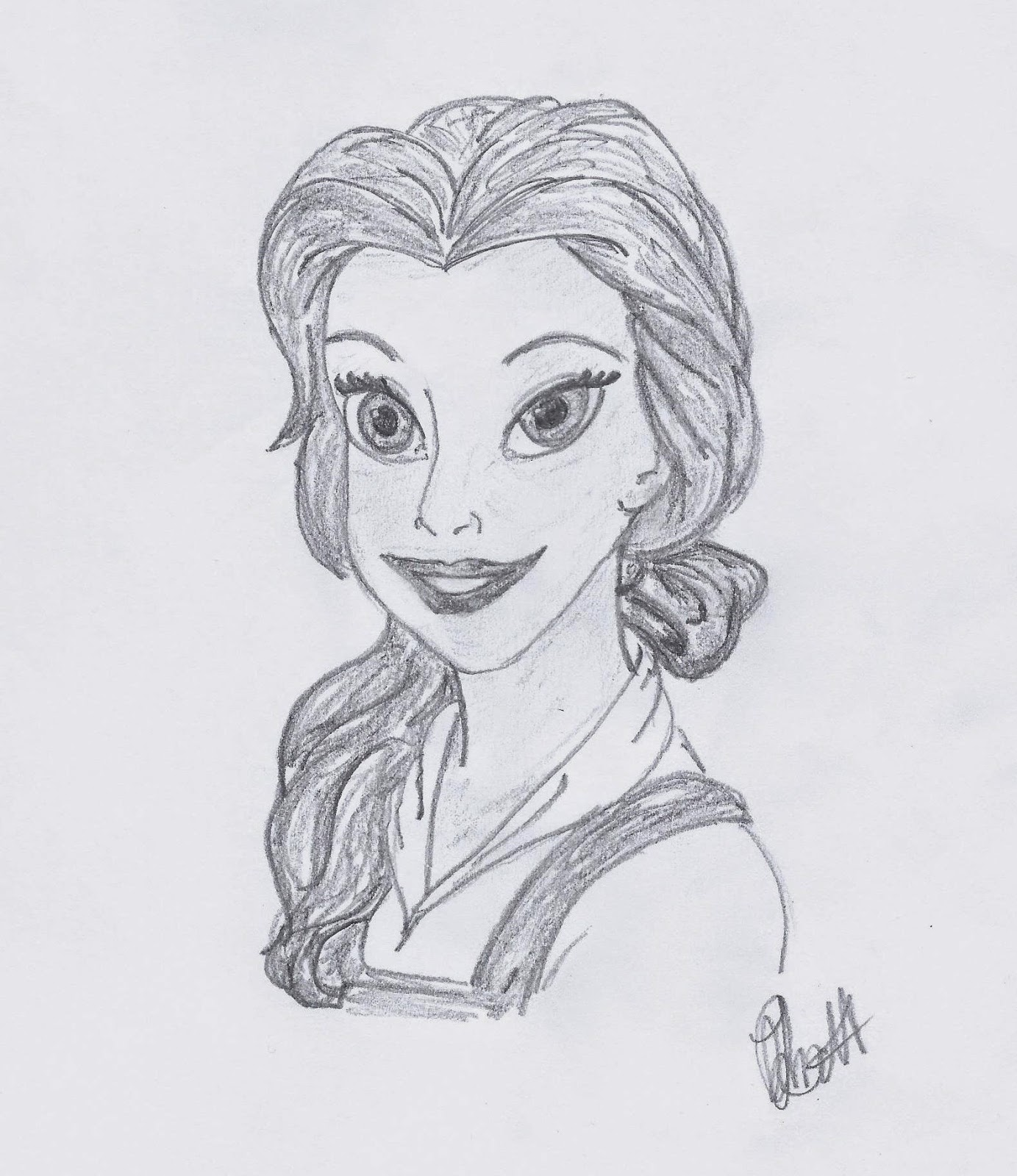Belle from Beauty and the Beast illustrated by Jo Linsdell