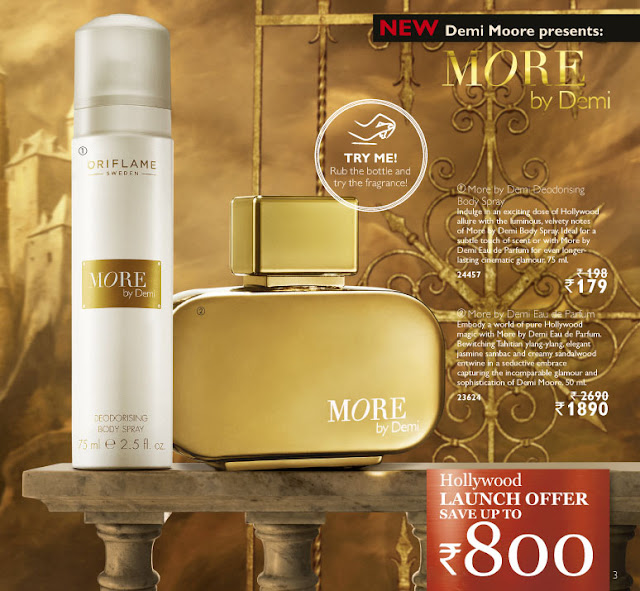 oriflame new fragrance more demi moore price