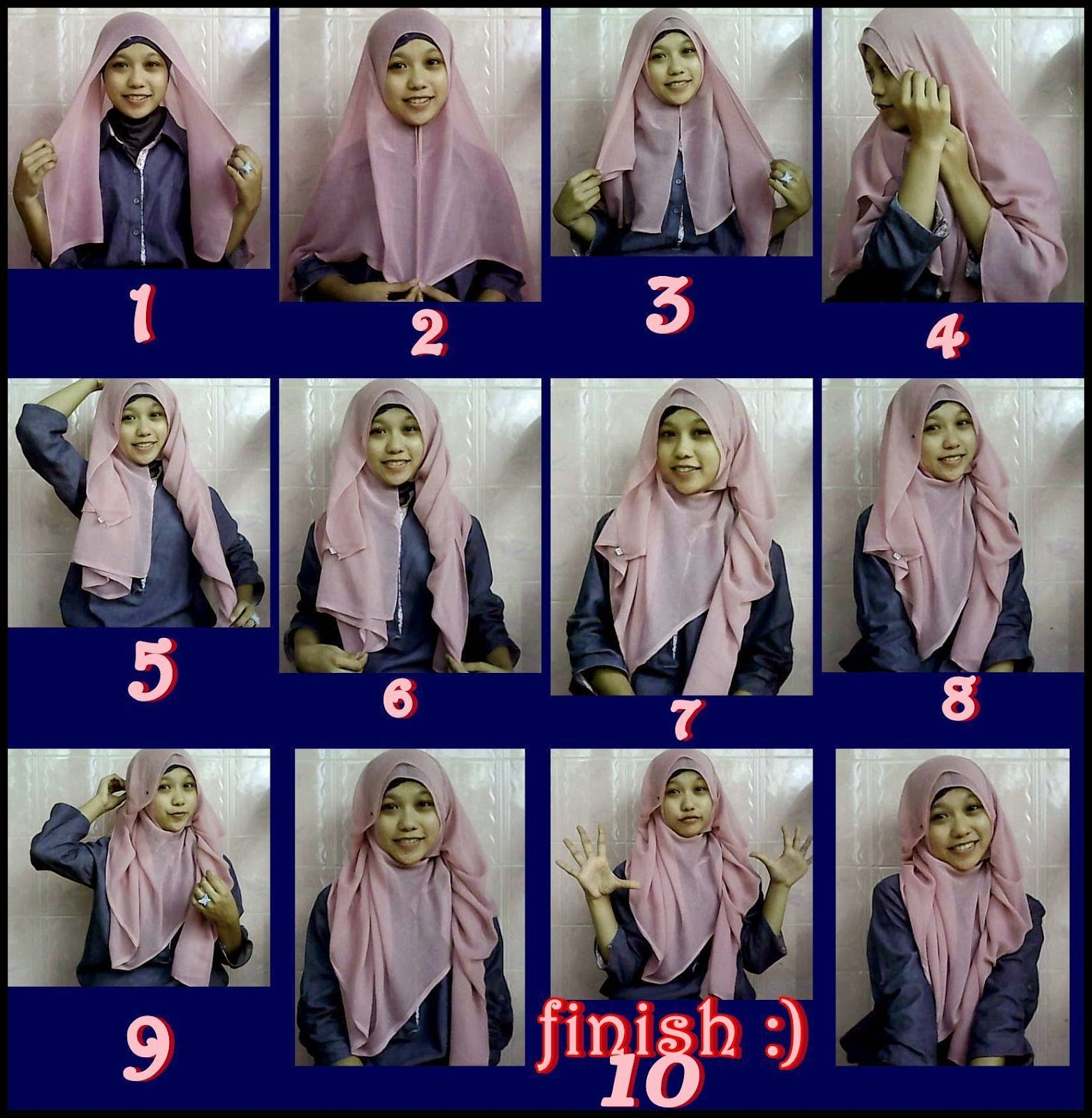 Jilbab Segi Empat Simple Dan Cantik