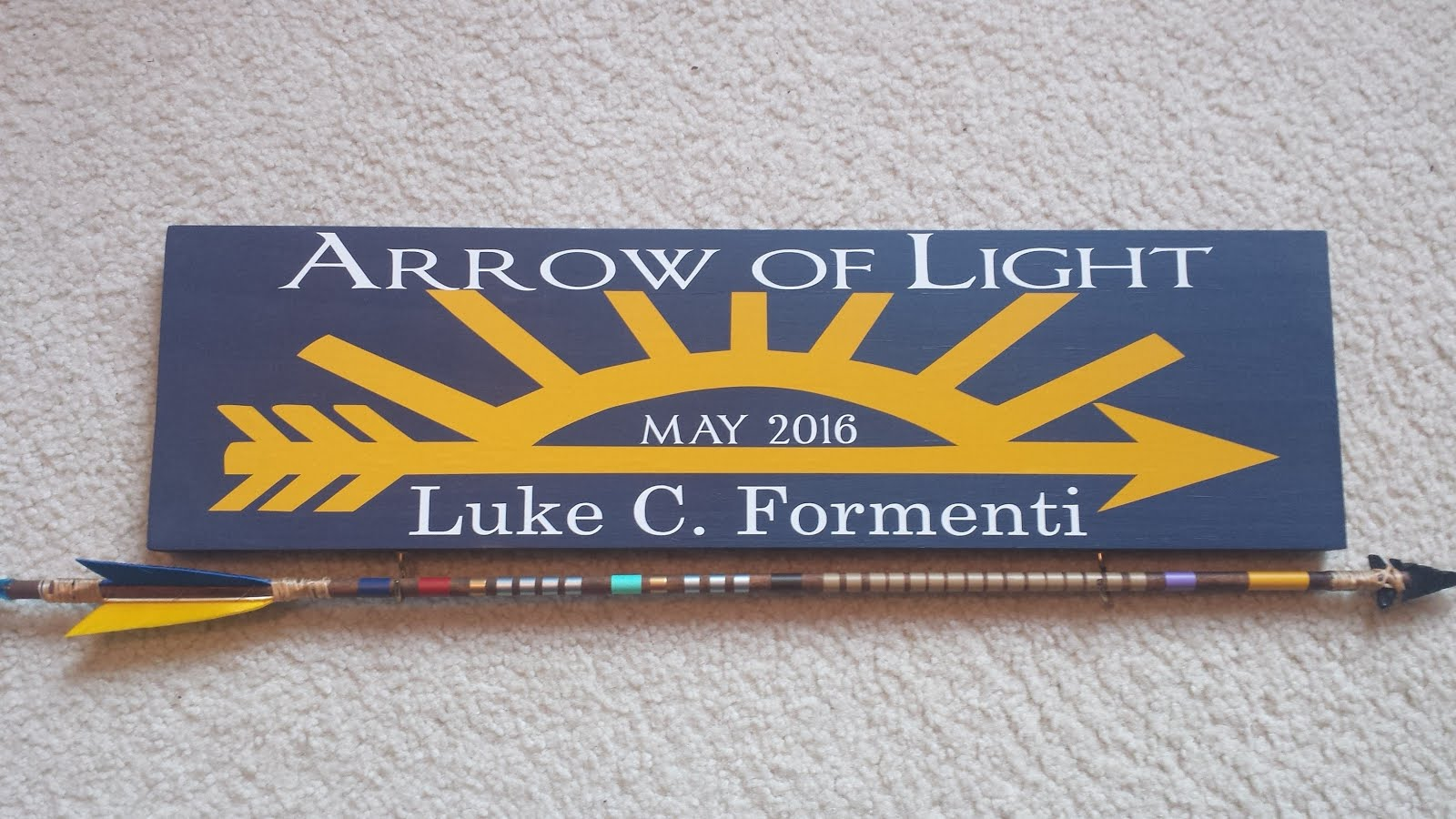 light plaque arrow program of ideas striping scout new cub stripes