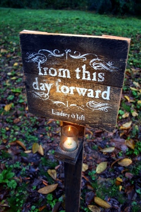 Rustic garden wedding sign via etsy