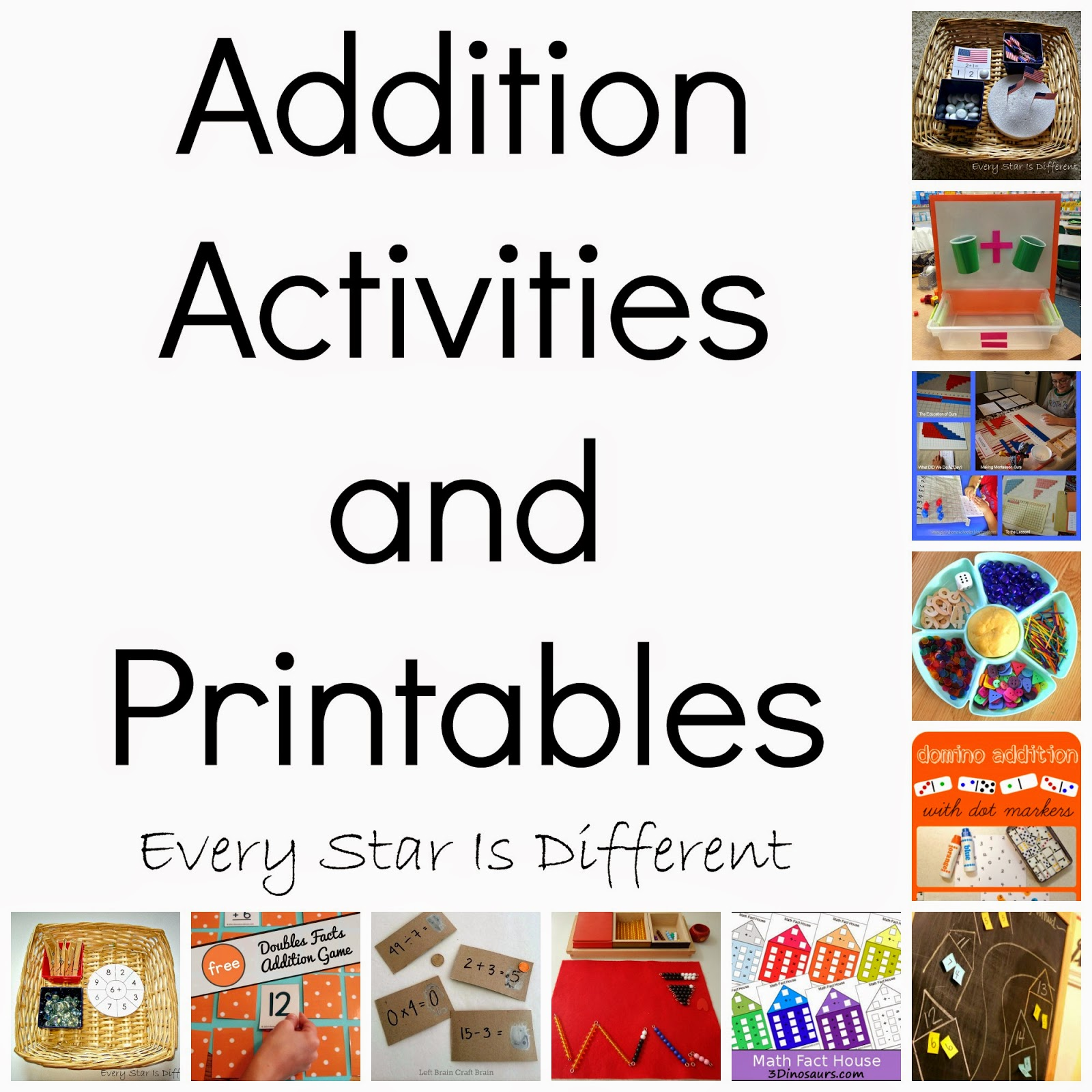 Addition Activities & Printables (KLP Linky Party) - Every Star Is ...