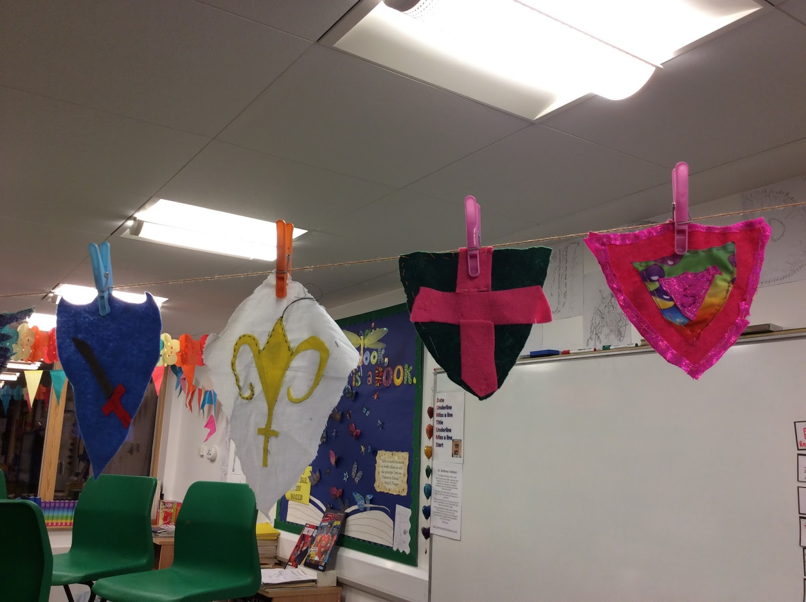 St. clare's class blog: our crest crazy classroom!
