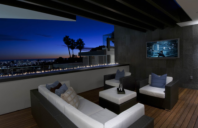 Picture of outdoor sofas on the balcony
