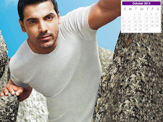 Bollywood Actors Desktop Calendar 2013