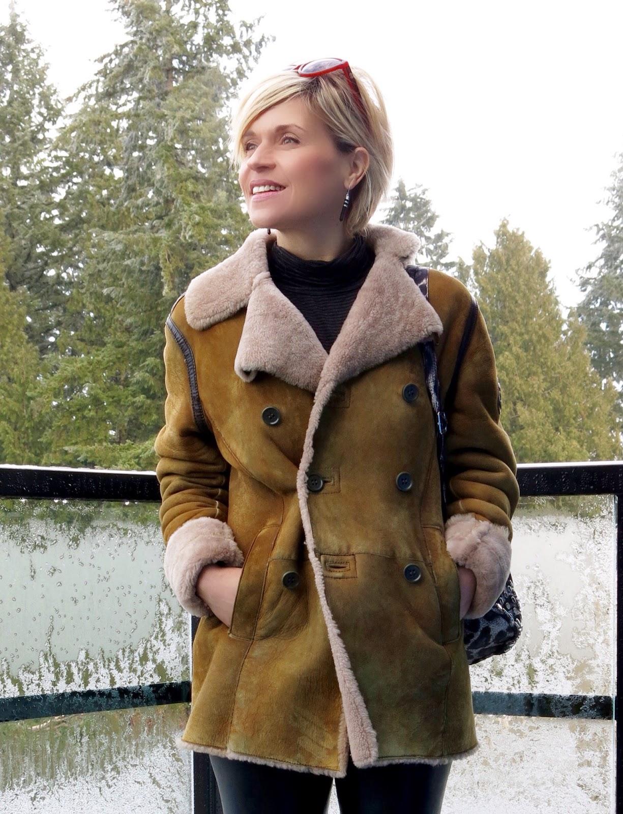 Diesel sheepskin coat