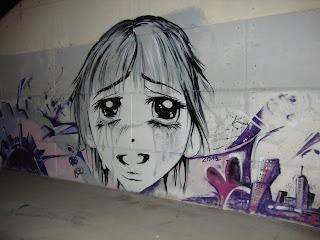 Happy Girl Graffiti - Sant Carles de La Rápita