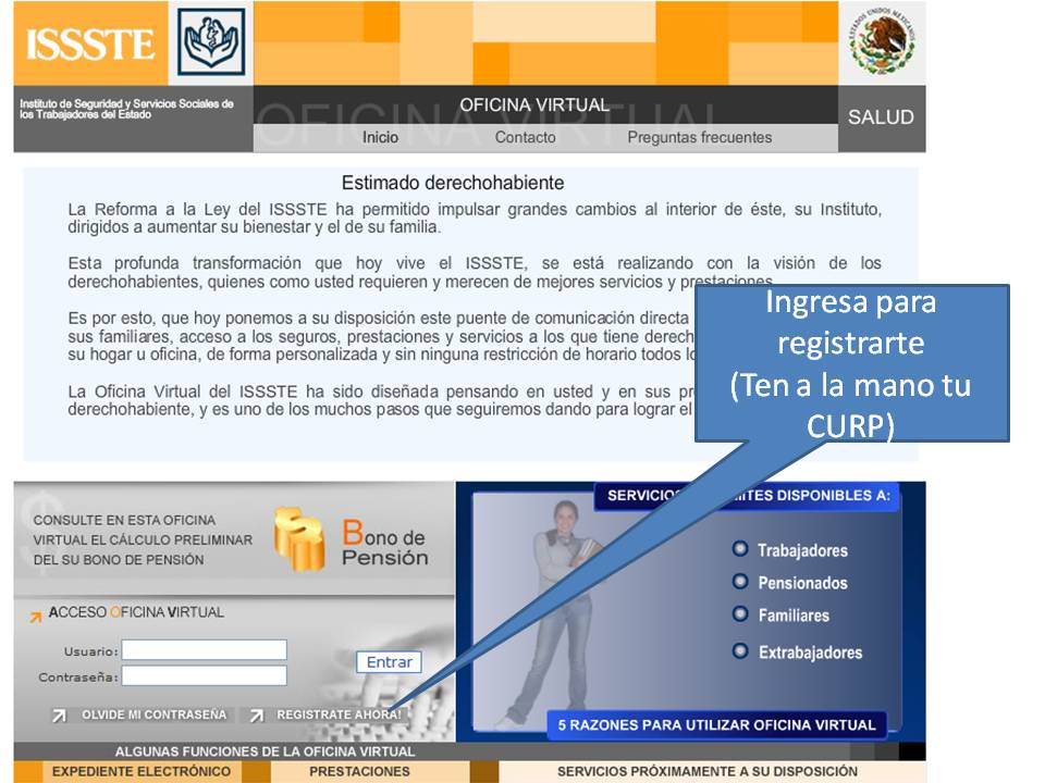 Zona 14 telesecundarias oficina virtual del issste for Oficina virtual correos
