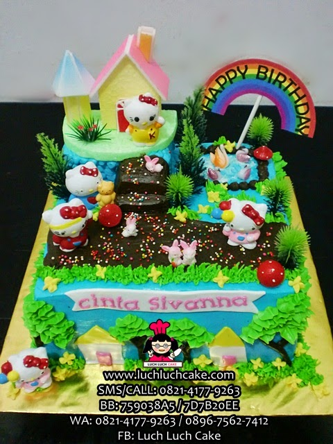Kue Tart Hello Kitty Taman Bermain