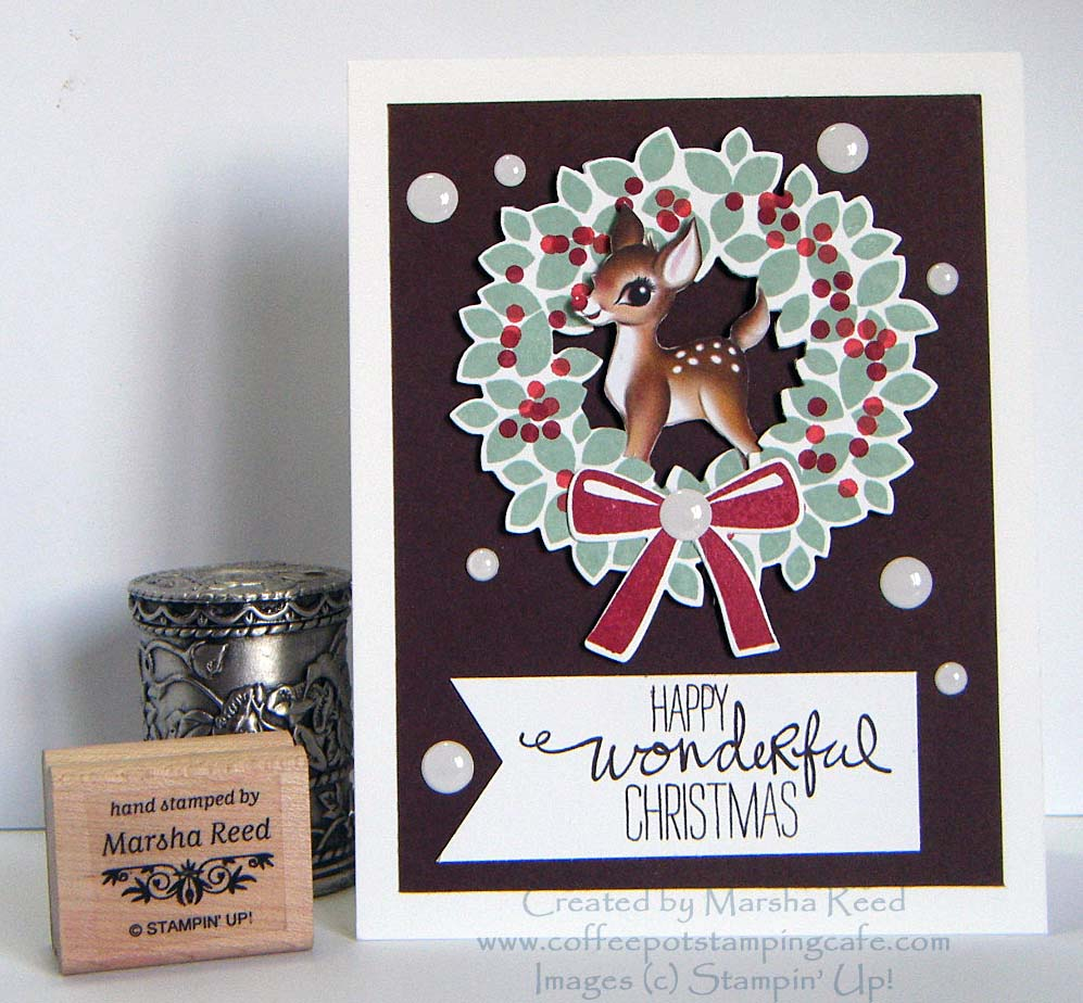 Coffee Pot Stamping Cafe: Sunday Christmas Card Challenges #43