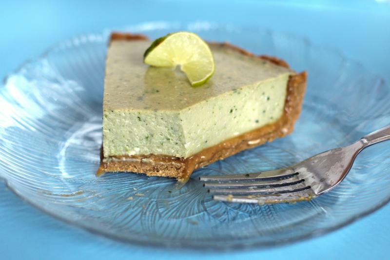 Healthy Coconut Key Lime Pie (no bake, gluten free)